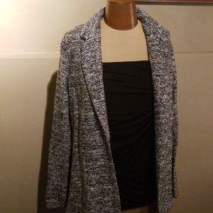 NWOT Vera Wang black/white knit blazer